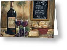 Les Vins Greeting Card by Marilyn Dunlap