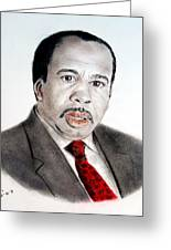 Leslie David Baker As Stanley Hudson On The Office  Greeting Card by Jim Fitzpatrick