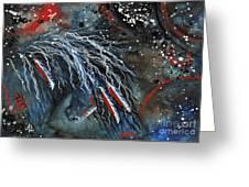 Let Freedom Run Majestic Series #71 Greeting Card by AmyLyn Bihrle