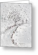 Let It Snow Greeting Card by Becky Kim