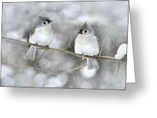 Let It Snow Greeting Card by Lori Deiter