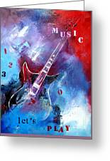 Let The Music Play Greeting Card by Elise Palmigiani