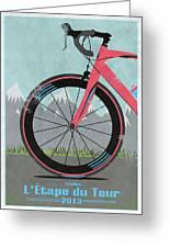 L'etape Du Tour Bike Greeting Card by Andy Scullion
