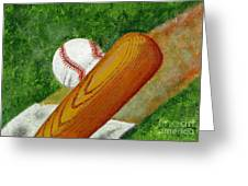 Let's Play Ball Greeting Card by Declan Leddy