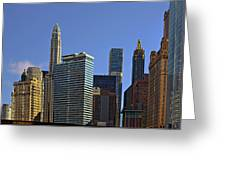 Let's Talk Chicago Greeting Card by Christine Till