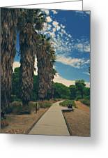 Let's Walk This Path Together Greeting Card by Laurie Search