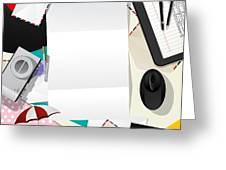 Letter Collage Abstract Greeting Card by Richard Laschon