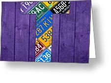 Letter T Alphabet Vintage License Plate Art Greeting Card by Design Turnpike