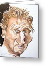 Liam Neeson Greeting Card by Chris Benice