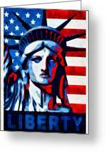 Liberty 1 Greeting Card by Angelina Vick