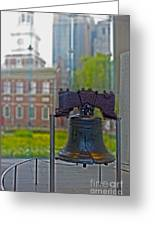 Liberty Bell Greeting Card by Tom Gari Gallery-Three-Photography