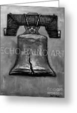Liberty Bell - Gray With Logo Greeting Card by Craig Green