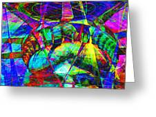 Liberty Head Abstract 20130618 square Greeting Card by Wingsdomain Art and Photography