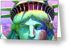 Liberty Head Painterly 20130618 Square Greeting Card by Wingsdomain Art and Photography