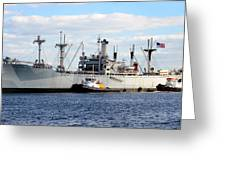 Liberty Ship  Greeting Card by David Lee Thompson