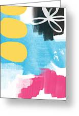 Life Is A Celebration-abstract Art Greeting Card by Linda Woods