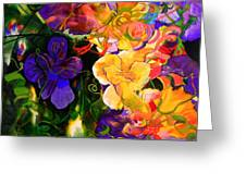 Life Of Flowers Greeting Card by Georg Douglas