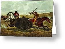 Life On The Prairie Greeting Card by Currier and Ives