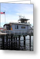 Lifeguard Headquarters On The Municipal Wharf At Santa Cruz Beach Boardwalk California 5d23827 Greeting Card by Wingsdomain Art and Photography