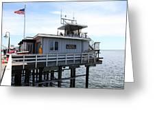 Lifeguard Headquarters On The Municipal Wharf At Santa Cruz Beach Boardwalk California 5d23828 Greeting Card by Wingsdomain Art and Photography