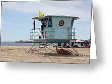Lifeguard Shack At The Santa Cruz Beach Boardwalk California 5D23710 Greeting Card by Wingsdomain Art and Photography