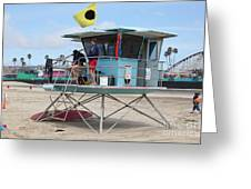 Lifeguard Shack At The Santa Cruz Beach Boardwalk California 5d23712 Greeting Card by Wingsdomain Art and Photography
