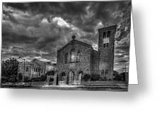 Light Above The Church Greeting Card by Marvin Spates