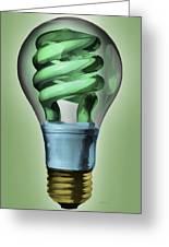 Light Bulb Greeting Card by Bob Orsillo