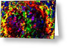 Light Emitting Diode Confetti Greeting Card by Imani  Morales