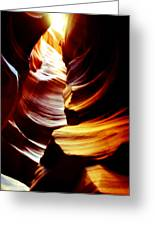 Light From Above - Canyon Abstract Greeting Card by Aidan Moran