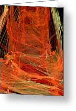 Light The Torch A Flickering Flame - Panorama  - Abstract - Fractal Art Greeting Card by Andee Design
