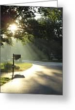 Light The Way Home Greeting Card by Guy Ricketts