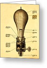 Lightbulb Patent Greeting Card by Digital Reproductions