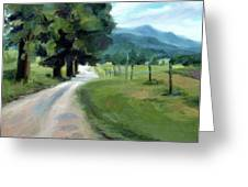 Lighted Path Of Cades Cove Greeting Card by Erin Rickelton