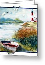 Lighthouse 1 Greeting Card by Marilyn Smith