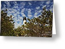 Lighthouse At Bill Baggs Florida State Park Greeting Card by Eyzen Medina