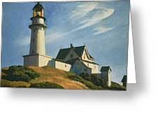 Lighthouse at Two Lights Greeting Card by Edward Hopper