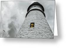 Lighthouse Greeting Card by Diane Diederich