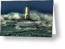 Lighthouse In The Storm Greeting Card by Gianfranco Weiss