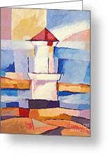 Lighthouse Greeting Card by Lutz Baar
