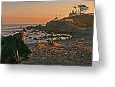 Lighthouse Sunset  Greeting Card by Gracia  Molloy