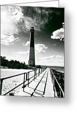 Lighthouse Walk Greeting Card by John Rizzuto