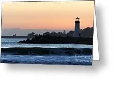 Lighthouses Of Santa Cruz Greeting Card by Paul Topp