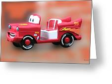 Lightning Mcqueen Greeting Card by Thomas Woolworth