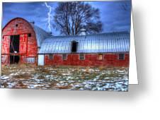 Lightning Strikes Greeting Card by David Simons