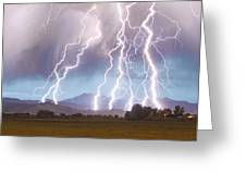 Lightning Striking Longs Peak Foothills 4c Greeting Card by James BO  Insogna