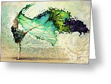 Like air I will raise Greeting Card by Karina Llergo Salto