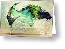 Like Air I Will Raise Greeting Card by Karina Llergo