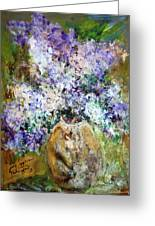 Lilac Time Greeting Card by Mary Spyridon Thompson