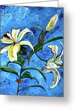 Lilies Greeting Card by Gregory Allen Page